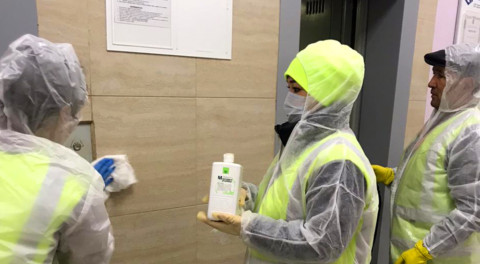 Оперативный штаб по контролю за дезинфекционной обработкой МКД начал работу в Подмосковье
