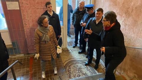 Проверка дезинфекции подъездов МКД в Химках