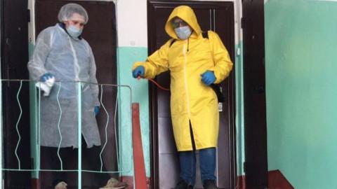 Дезинфекция подъездов Ивантеевки на контроле у жителей