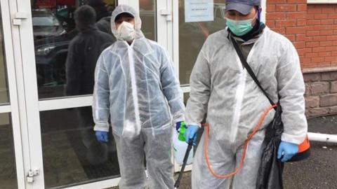 Общественный контроль дезинфекции подъездов в Красногорске