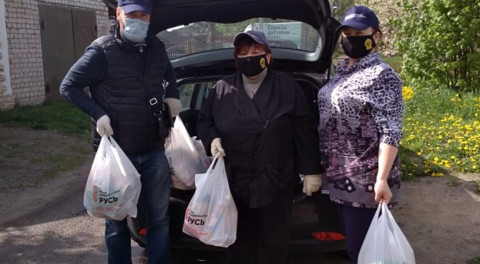 Продуктовые наборы и маски получили жители Богородского округа