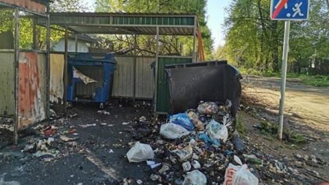 Вандализм на контейнерных площадках в Солнечногорске
