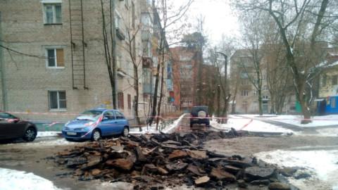 Вредительство подрядчика работ по благоустройству в Пушкино